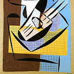 1921 Compotier et guitare, Pablo Picasso (1881-1973) Period of creation: 1919-1930