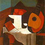 Pablo Picasso (1881-1973) Period of creation: 1919-1930 - 1924 Livre, compotier et mandoline