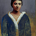 1923 Portrait de femme au col dhermine , Pablo Picasso (1881-1973) Period of creation: 1919-1930