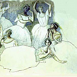1919 Sept danseuses, Pablo Picasso (1881-1973) Period of creation: 1919-1930