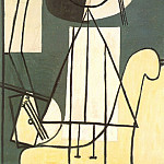 Pablo Picasso (1881-1973) Period of creation: 1919-1930 - 1928 Peintre Е la palette et au chevalet