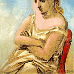 Pablo Picasso (1881-1973) Period of creation: 1919-1930 - 1923 Femme assise en bleu et rose (Sarah Murphy)