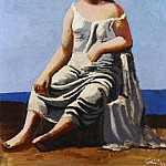 1922 Femme assise au bord de la mer, Pablo Picasso (1881-1973) Period of creation: 1919-1930