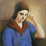 Pablo Picasso (1881-1973) Period of creation: 1919-1930 - 1923 Olga pensive