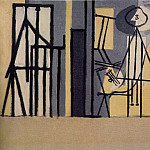 1928 Peintre dans son atelier, Pablo Picasso (1881-1973) Period of creation: 1919-1930