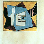 Pablo Picasso (1881-1973) Period of creation: 1919-1930 - 1920 Guitare et compotier sur une table1