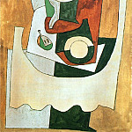 1920 Nature morte au guВridon et Е lassiette, Pablo Picasso (1881-1973) Period of creation: 1919-1930