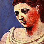 1923 TИte de femme1, Pablo Picasso (1881-1973) Period of creation: 1919-1930
