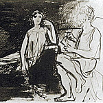 1926 ModКle posant devant lartiste, Pablo Picasso (1881-1973) Period of creation: 1919-1930