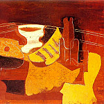 1923 Compotier, mandoline, partition, bouteille, Pablo Picasso (1881-1973) Period of creation: 1919-1930