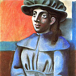 1920 Jeune fille au chapeau les mains croisВes, Pablo Picasso (1881-1973) Period of creation: 1919-1930