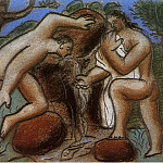 Pablo Picasso (1881-1973) Period of creation: 1919-1930 - 1921 Homme et femme Е la fontaine