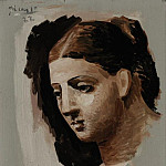 1921 TИte de femme8, Pablo Picasso (1881-1973) Period of creation: 1919-1930