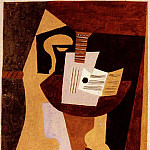 1920 Guitare et partition sur un guВridon, Pablo Picasso (1881-1973) Period of creation: 1919-1930