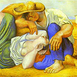 Pablo Picasso (1881-1973) Period of creation: 1919-1930 - 1919 Paysans endormis. JPG