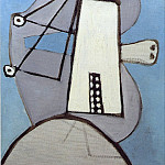 1929 TИte sur fond bleu [Figure], Pablo Picasso (1881-1973) Period of creation: 1919-1930