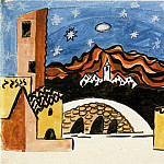 Pablo Picasso (1881-1973) Period of creation: 1919-1930 - 1919 Projet pour le dВcor (Le Tricorne)