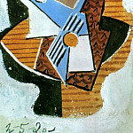 Pablo Picasso (1881-1973) Period of creation: 1919-1930 - 1920 Guitare sur une table