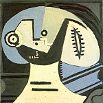 Pablo Picasso (1881-1973) Period of creation: 1919-1930 - 1926 Femme Е la collerette