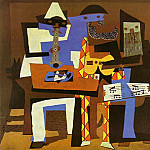 Pablo Picasso (1881-1973) Period of creation: 1919-1930 - 1921 Musiciens aux masques