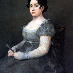 Женщина с веером., Francisco Jose De Goya y Lucientes