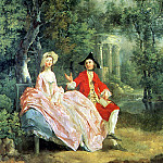 Беседа в парке., Thomas Gainsborough