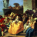 Сцена карнавала, или Менуэт., Giovanni Battista Tiepolo