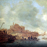 Louvre (Paris) - РЁЙСДАЛ САЛОМОН ВАН - Паром, 1643.