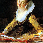 Ученье., Jean Honore Fragonard