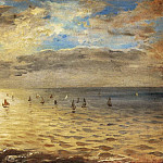 Ferdinand Victor Eugène Delacroix - The Sea from the Heights of Dieppe