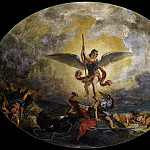 Ferdinand Victor Eugène Delacroix - St Michael defeats the Devil