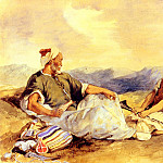 Ferdinand Victor Eugène Delacroix - Two Moroccans Seated In The Countryside