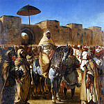 Ferdinand Victor Eugène Delacroix - DELACROIX Eugene The Sultan of Morocco and his Entourage