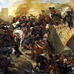 Ferdinand Victor Eugène Delacroix - The Battle of Taillebourg draft