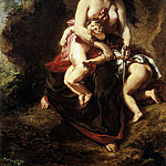 Ferdinand Victor Eugène Delacroix - Medea about to Kill her Children
