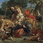 Ferdinand Victor Eugène Delacroix - The Lion Hunt