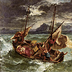 Ferdinand Victor Eugène Delacroix - DELACROIX Eugene Christ on the Lake of Gennezaret