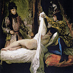 Ferdinand Victor Eugène Delacroix - Louis d- Orleans Showing His Mistress