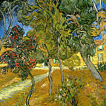 Trees in the Garden of Saint-Paul Hospital, Vincent van Gogh