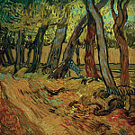 The Garden of Saint-Paul Hospital with Figure, Vincent van Gogh