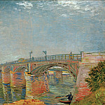 The Seine Bridge at Asnieres, Vincent van Gogh