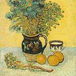 Still Life - Majolica Jug with Wildflowers, Vincent van Gogh