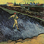 Sower – Outskirts of Arles in the Background, Vincent van Gogh