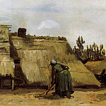 Cottage with Woman Digging, Vincent van Gogh