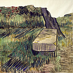 Vincent van Gogh - Stone Bench in the Garden of the Asylum
