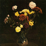 Vincent van Gogh - Vase of Carnations and Zinnias