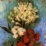 Vase with Carnations and Other Flowers, Vincent van Gogh