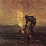 Vincent van Gogh - Peasant Burning Weeds