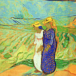 Two Women Crossing the Fields, Vincent van Gogh