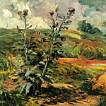 Two Thistles, Vincent van Gogh